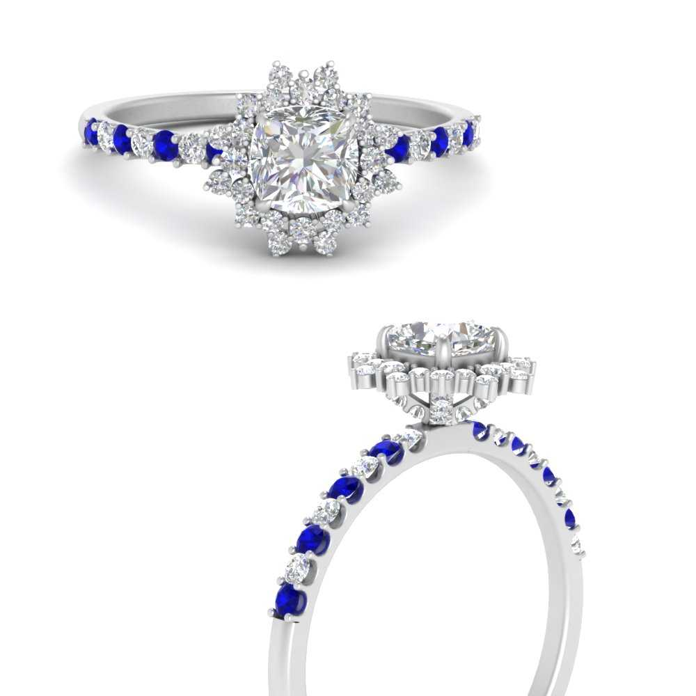 floral-art-deco-cushion-cut-diamond-engagement-ring-with-sapphire-in-FDENS3149CURGSABLANGLE3-NL-WG
