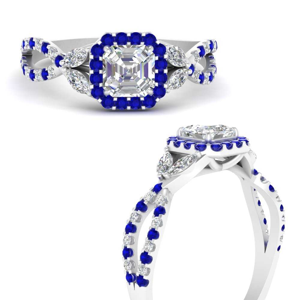 floral-halo-twisted-asscher-cut-diamond-engagement-ring-with-sapphire-in-FDENS3303ASRGSABLANGLE3-NL-WG