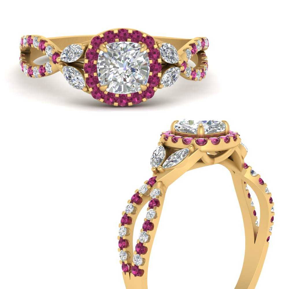 floral-halo-twisted-cushion-cut-diamond-engagement-ring-with-pink-sapphire-in-FDENS3303CURGSADRPIANGLE3-NL-YG