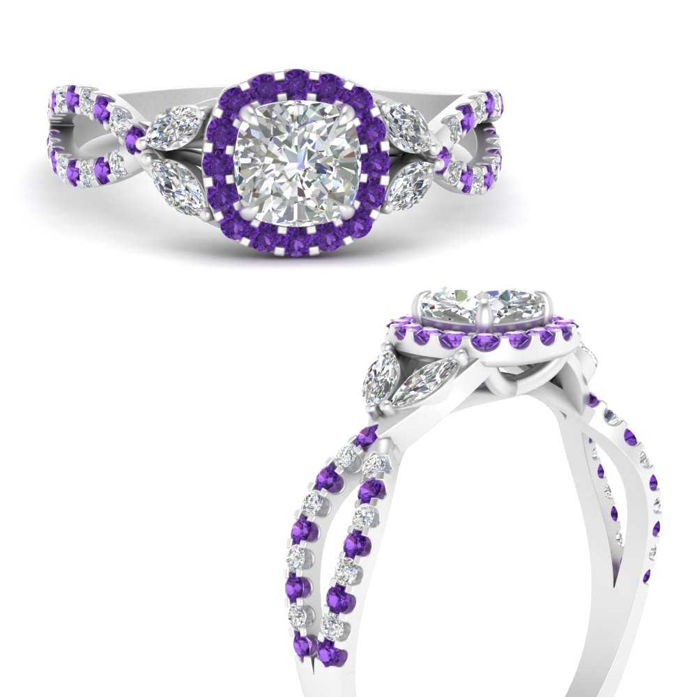 floral-halo-twisted-cushion-cut-lab diamond-engagement-ring-with-purple-topaz-in-FDENS3303CURGVITOANGLE3-NL-WG