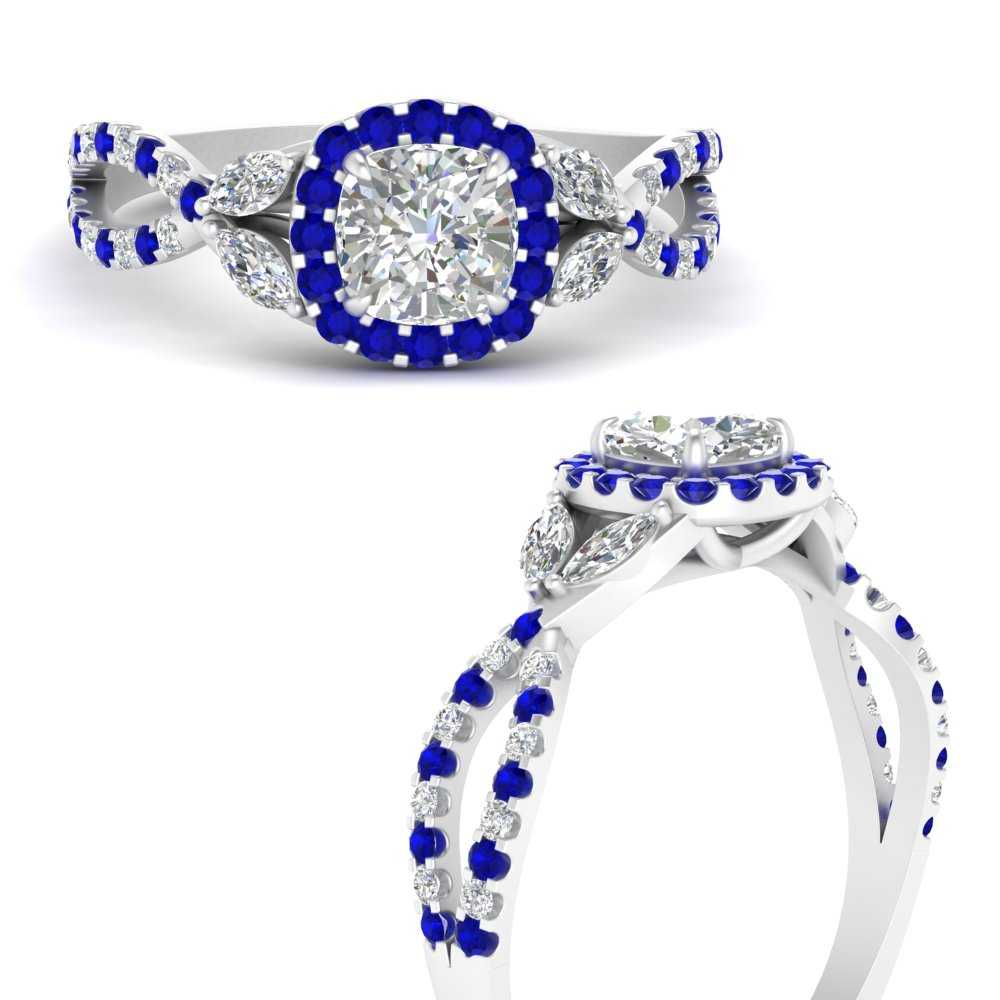 floral-halo-twisted-cushion-cut-lab diamond-engagement-ring-with-sapphire-in-FDENS3303CURGSABLANGLE3-NL-WG