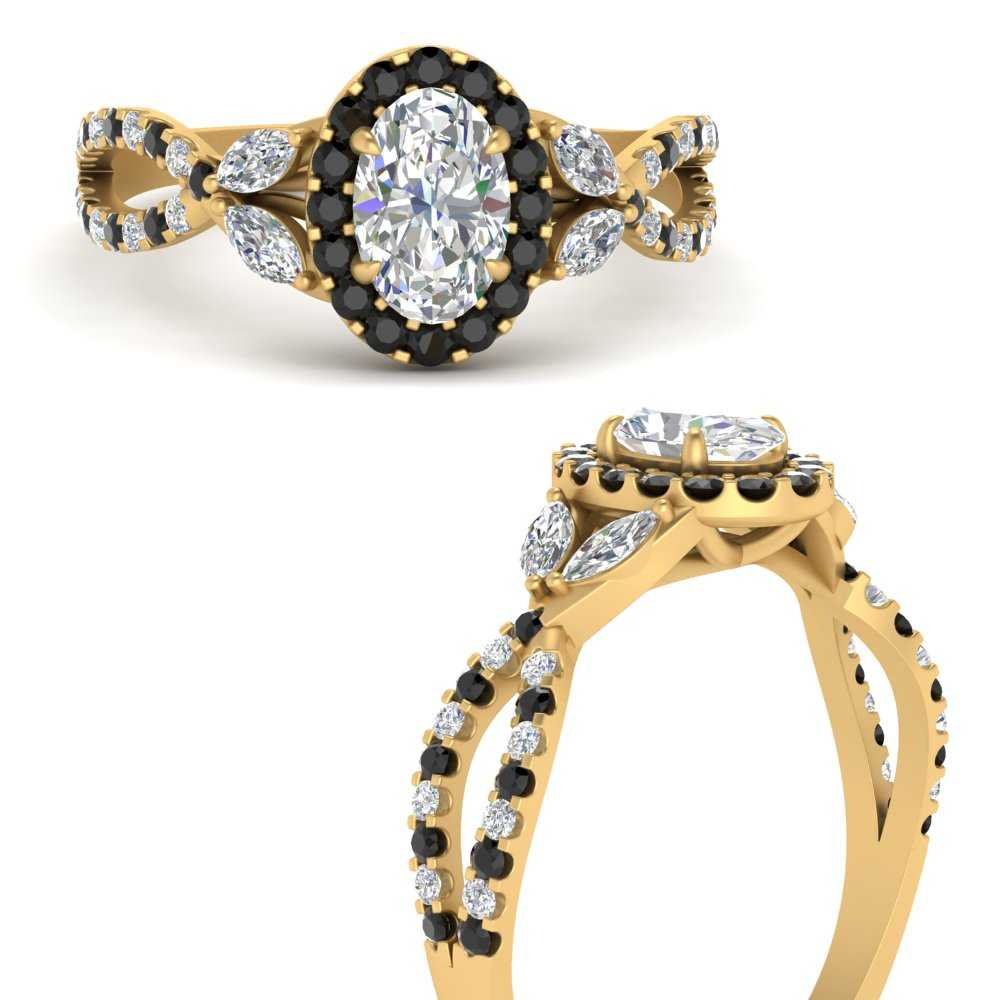floral-halo-twisted-oval-shaped-halo-diamond-engagement-ring-with-black-diamond-in-FDENS3303OVRGBLACKANGLE3-NL-YG