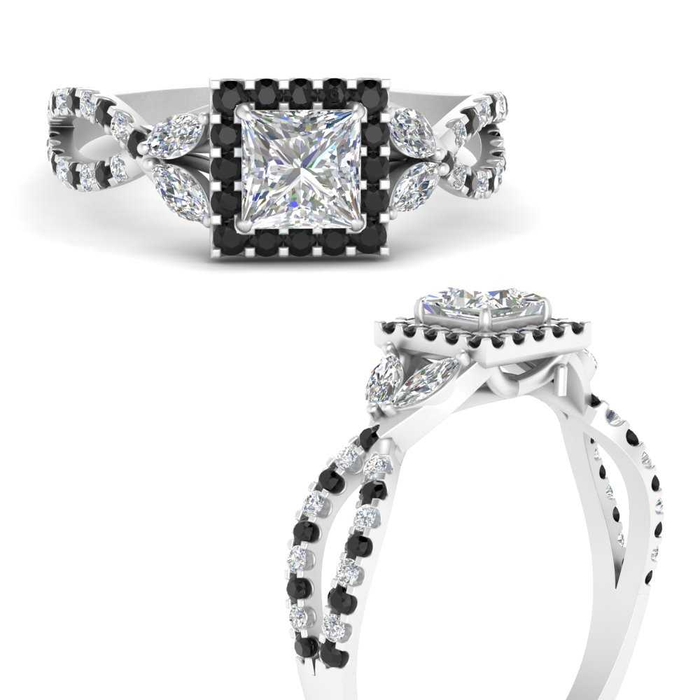 floral-halo-twisted-princess-cut-engagement-ring-with-black-diamond-in-FDENS3303PRRGBLACKANGLE3-NL-WG