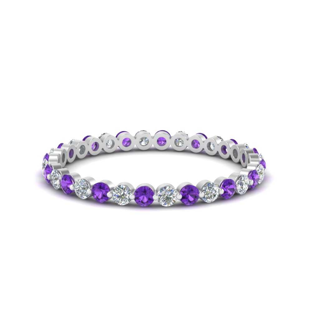 half-carat-common-prong-diamond-wedding-band-with-purple-topaz-in-FDEWB9477(0.50ct)GVITO-NL-WG