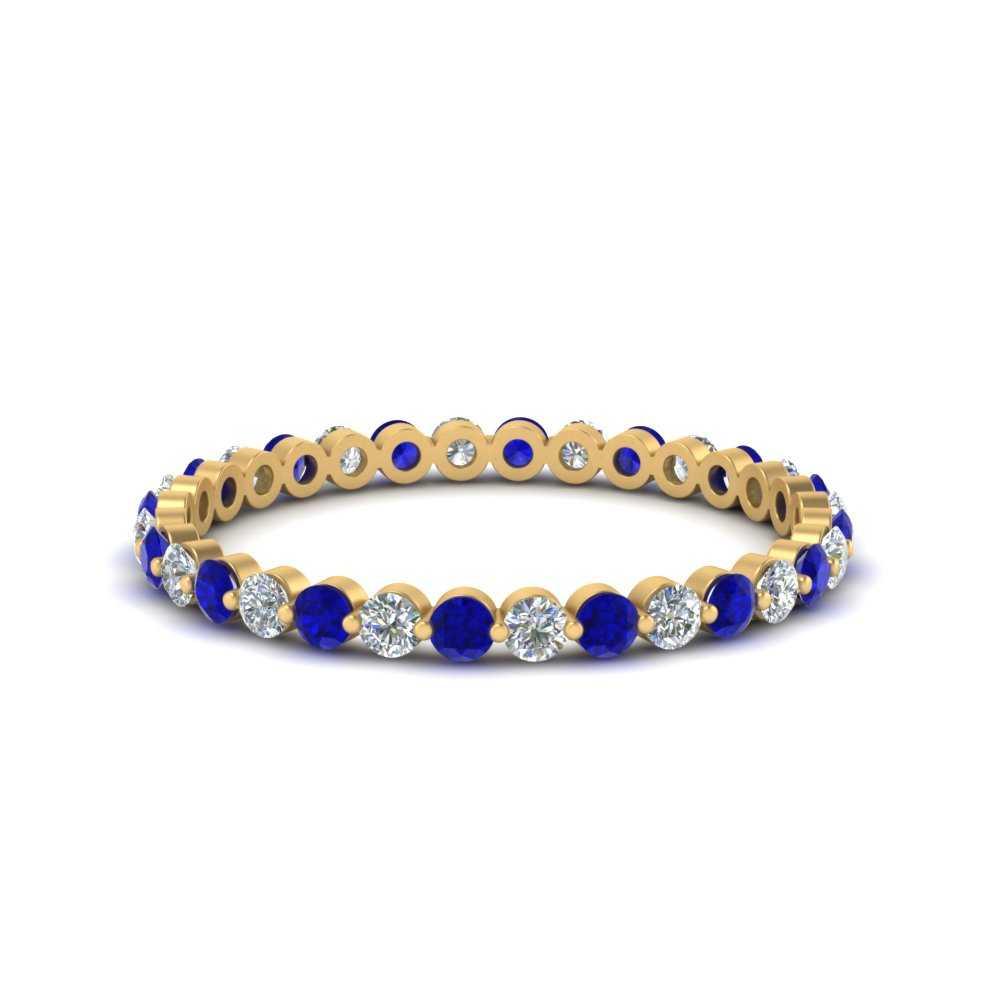 half-carat-common-prong-diamond-wedding-band-with-sapphire-in-FDEWB9477(0.50ct)GSABL-NL-YG