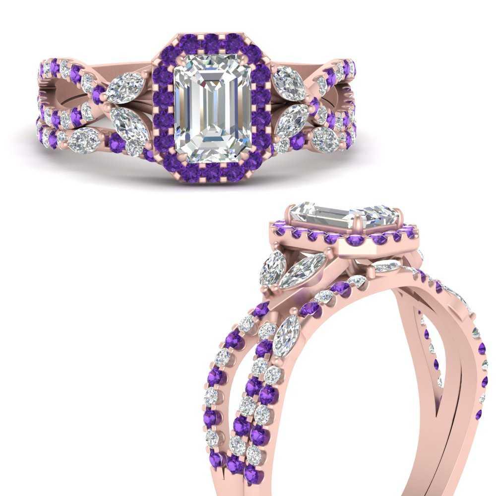halo-vine-split-emerald-cut-diamond-wedding-ring-set-with-purple-topaz-in-FDENR2951EMGVITOANGLE3-NL-RG