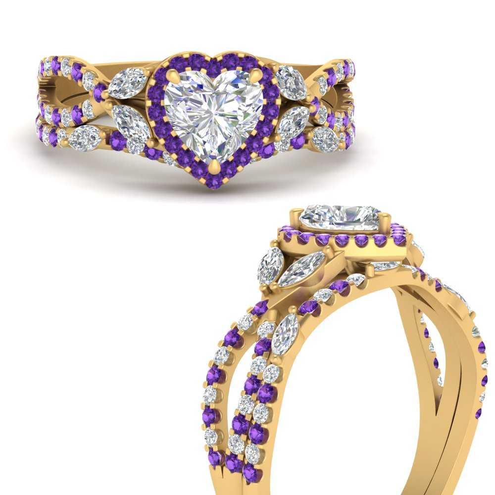 heart-halo-purple-topaz-bridal-ring-set-in-FD1042HTGVITOANGLE3-NL-YG