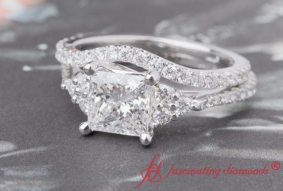 1.50 Carat Diamond Petite Bridal Set