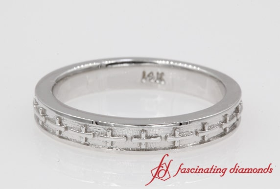 Cross Engraved Wedding Band