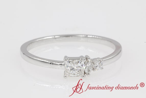 Non Traditional Princess Cut Ring
