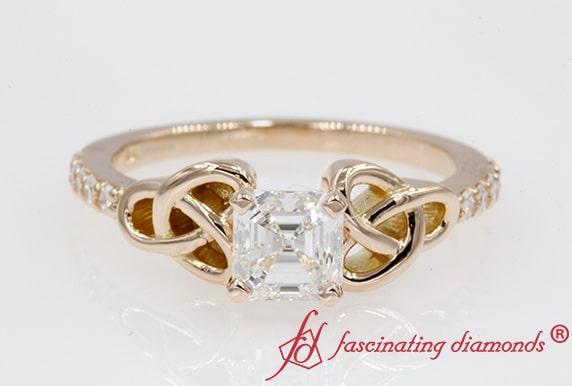Asscher Cut Love Knot Ring