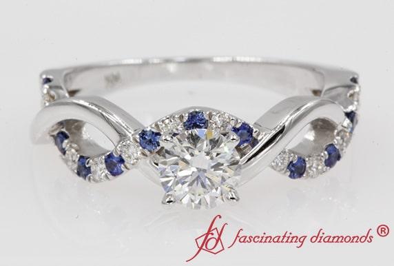 Sapphire Infinity Round Ring