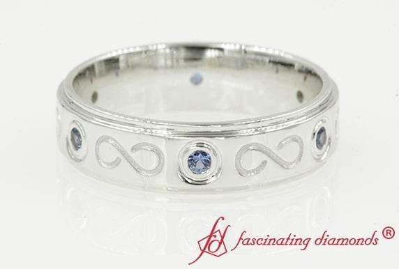Sapphire Infinity Wedding Band