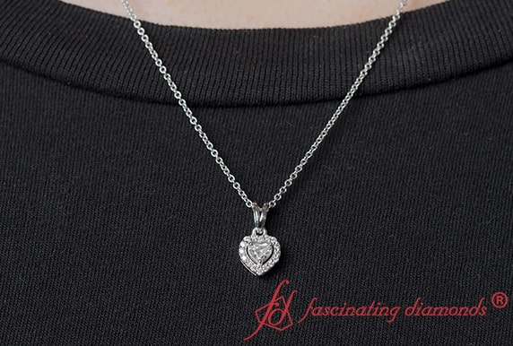 Women Heart Halo Pendant