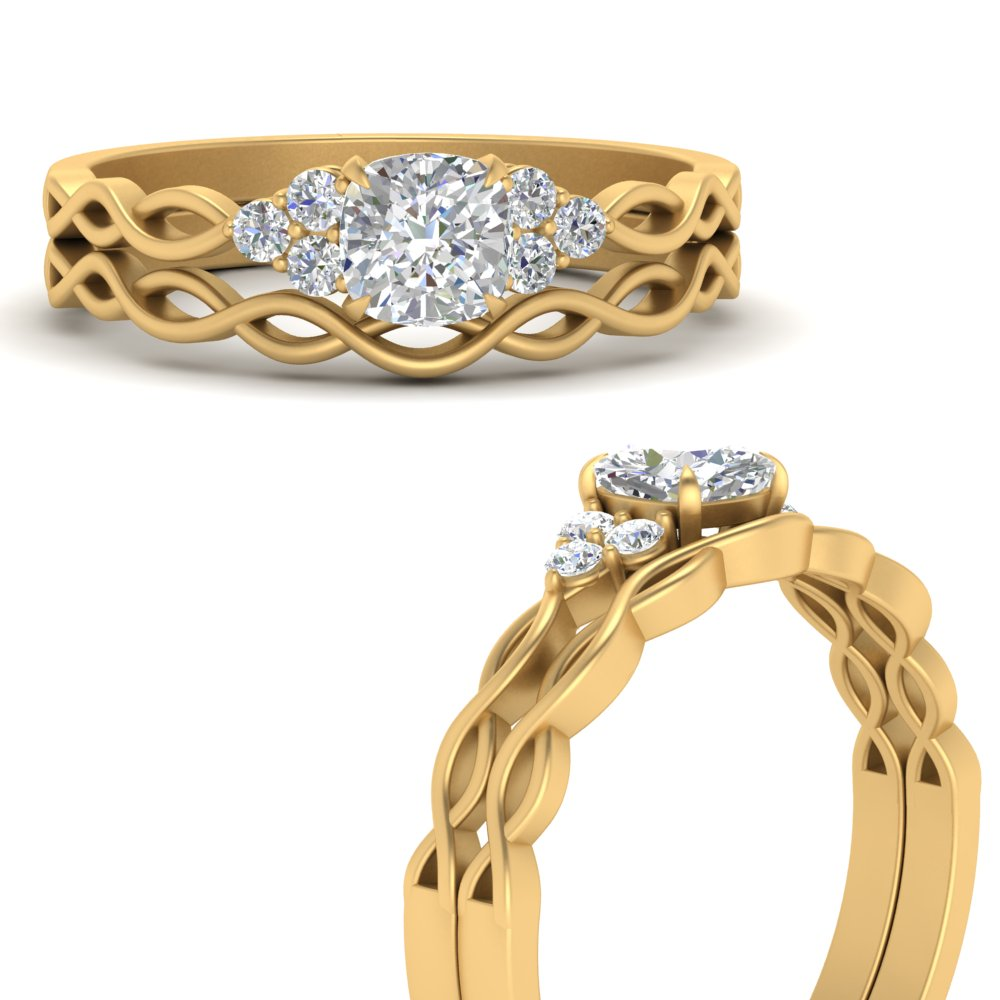 infinity-accented-cushion-lab diamond-wedding-rings-in-FD67847CUANGLE3-NL-YG