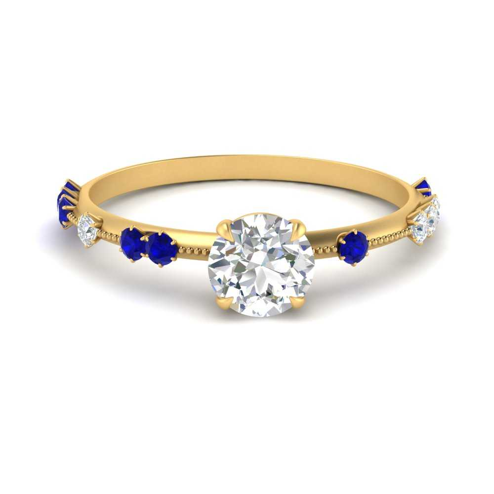 offbeat-vintage-thin-round-cut-moissanite-engagement-ring-with-sapphire-in-FDENS1571RORGSABL-NL-YG