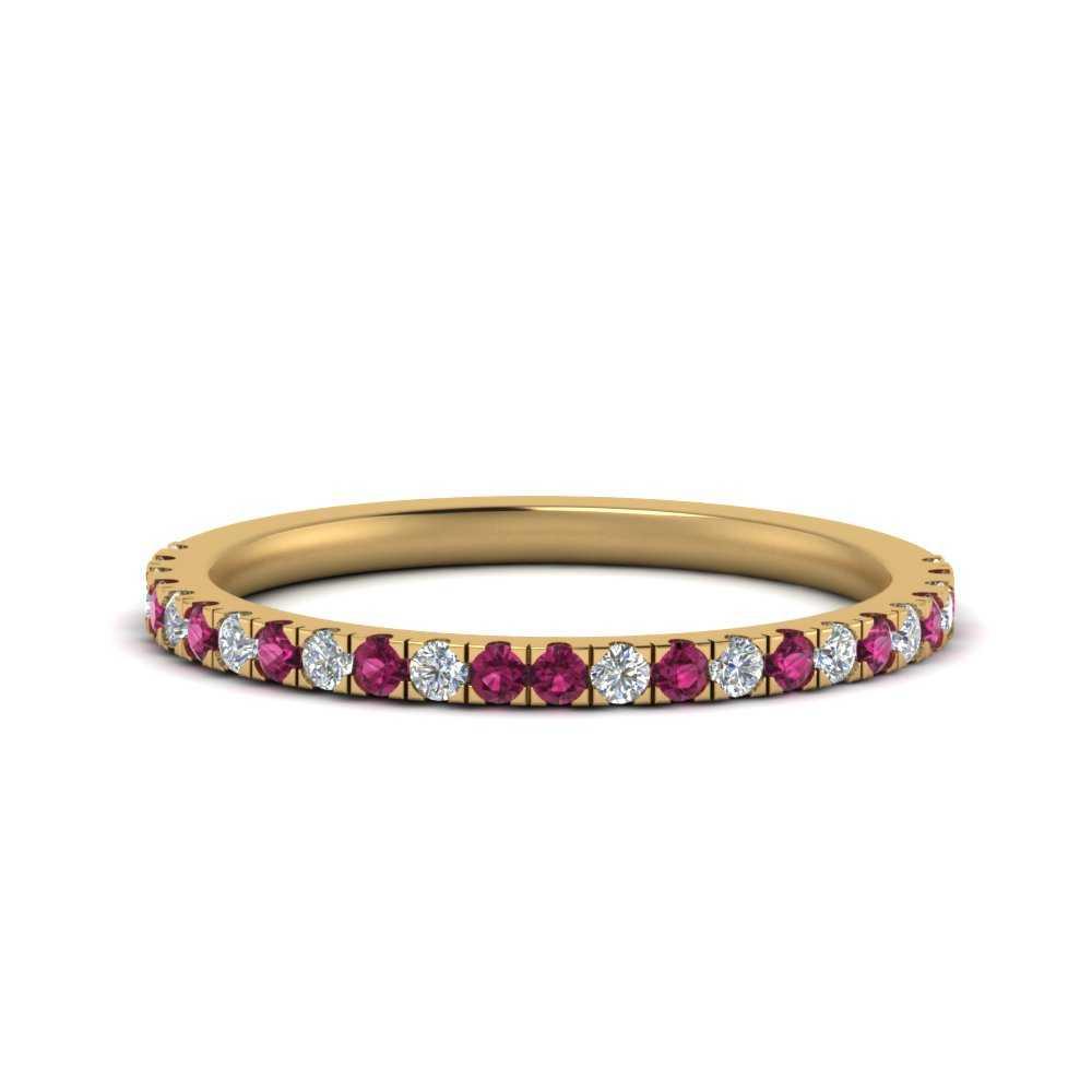 pave-diamond-straight-wedding-band-with-pink-sapphire-in-FD9128B1GSADRPI-NL-YG