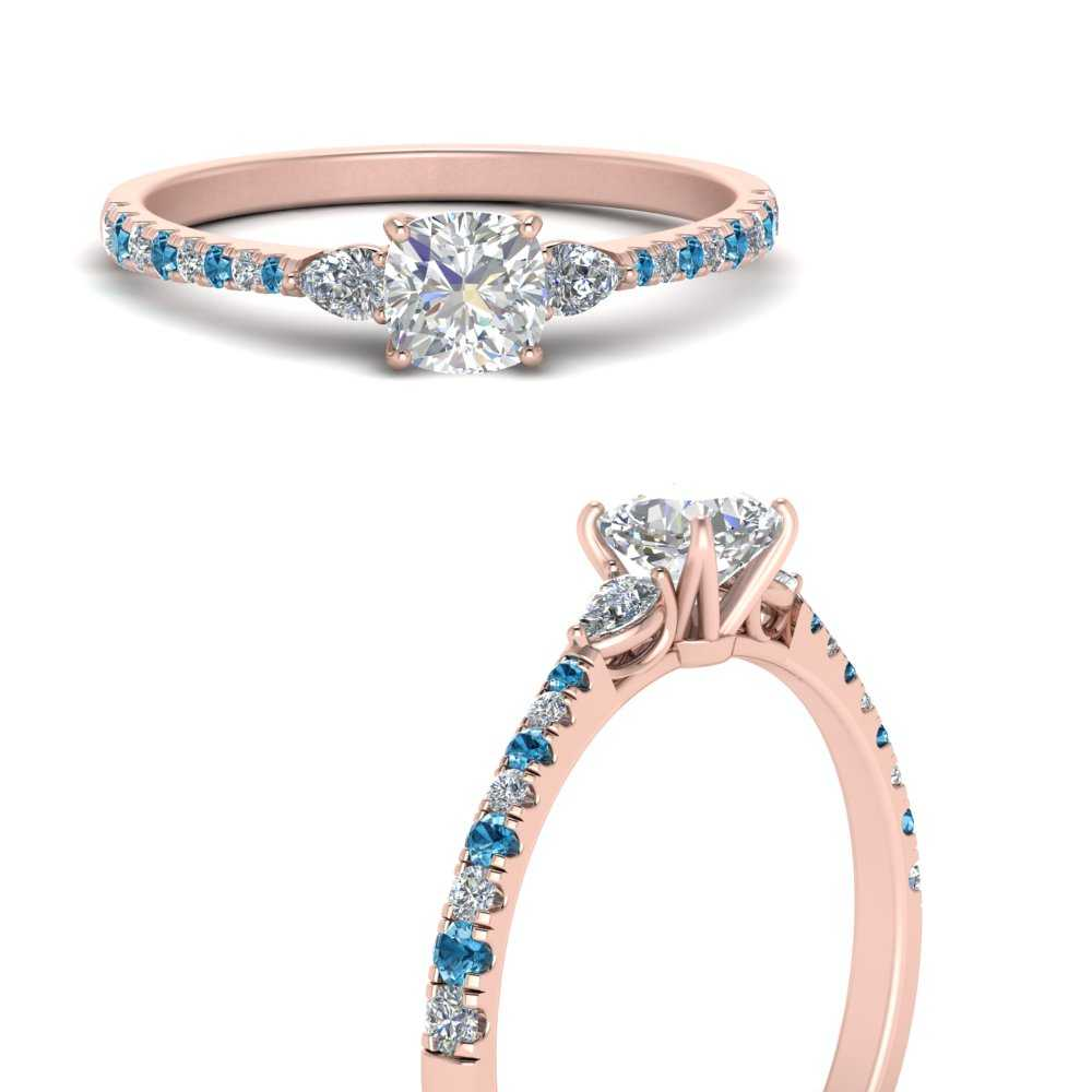pear-3-stone-cathedral-cushion-cut-moissanite-engagement-ring-with-blue-topaz-in-FDENR263CURGICBLTOANGLE3-NL-RG