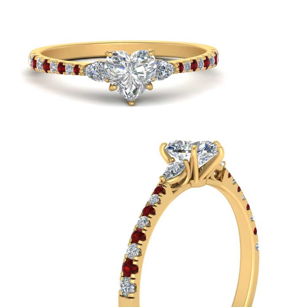 pear-3-stone-cathedral-heart-shaped-diamond-engagement-ring-with-ruby-in-FDENR263HTRGRUDRANGLE3-NL-YG
