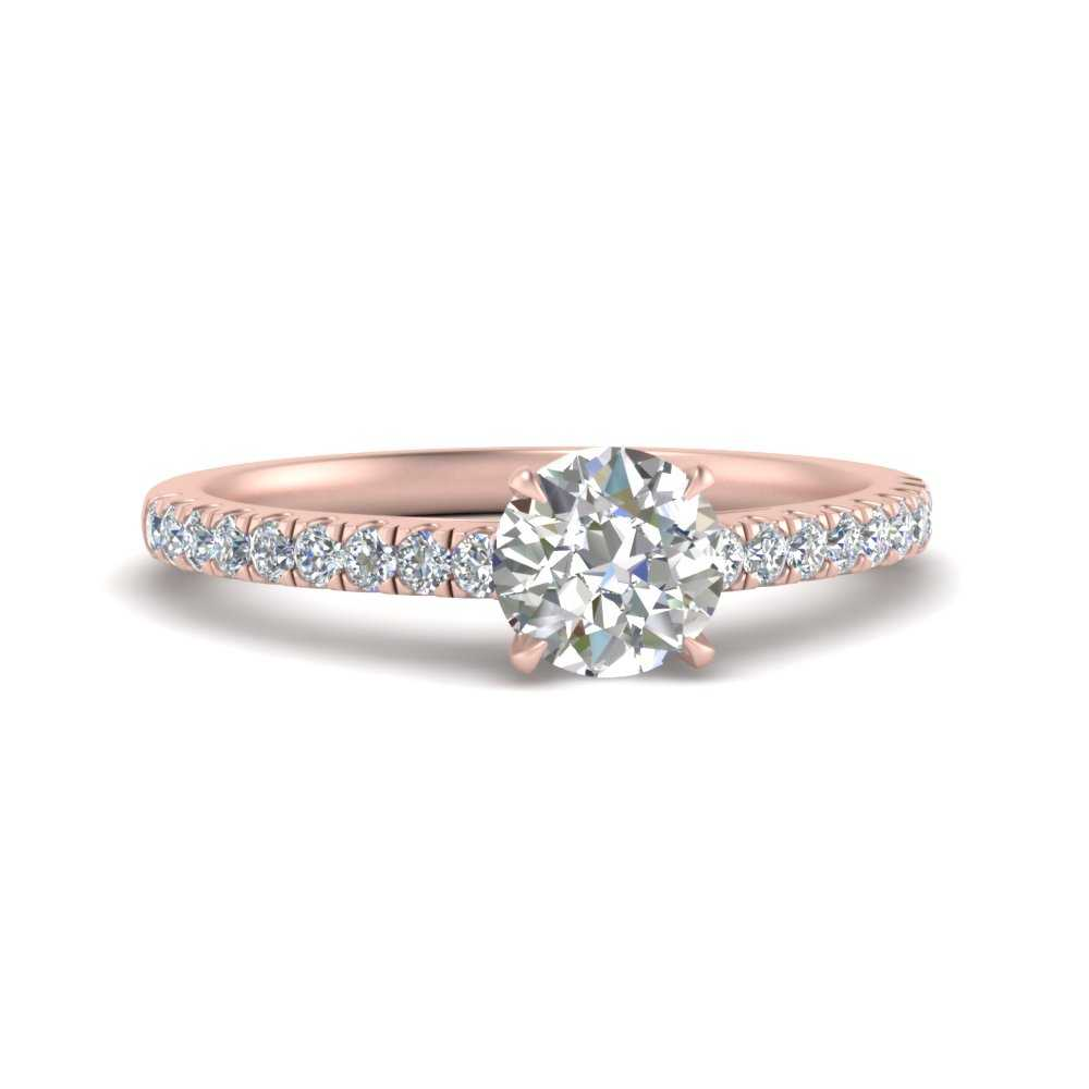 petite french pave lab made lab diamond rings in FD9154ROR NL RG