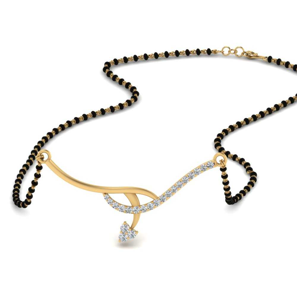 22k Yellow Gold Necklace Mangalsutra