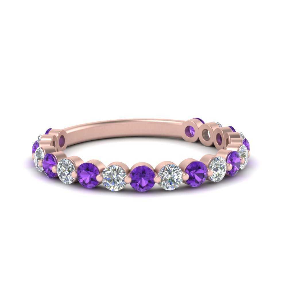 single-common-prong-diamond-wedding-band-with-purple-topaz-in-FD121390GVITO-NL-RG