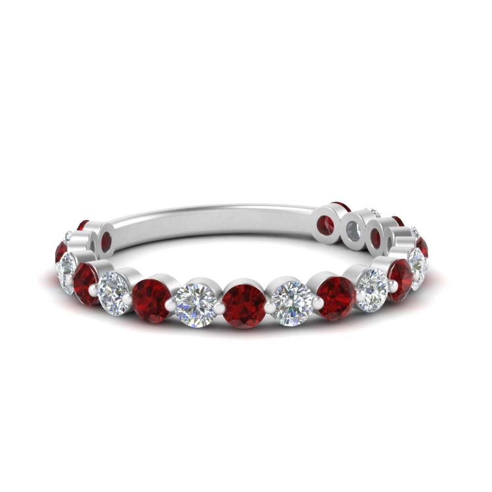single-common-prong-diamond-wedding-band-with-ruby-in-FD121390GRUDR-NL-WG