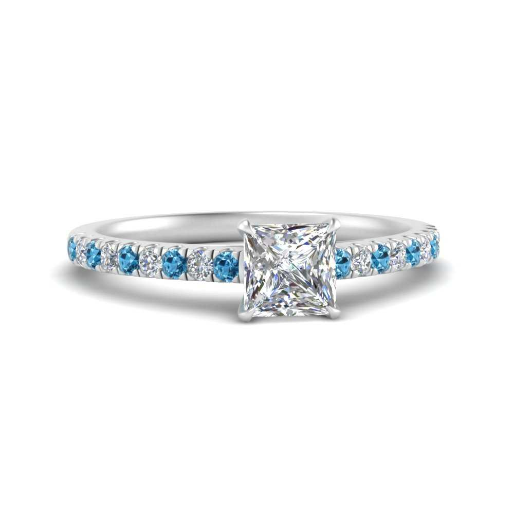 u-prong-thin-princess-cut-diamond-engagement-ring-with-blue-topaz-in-FD9154PRRGICBLTO-NL-WG