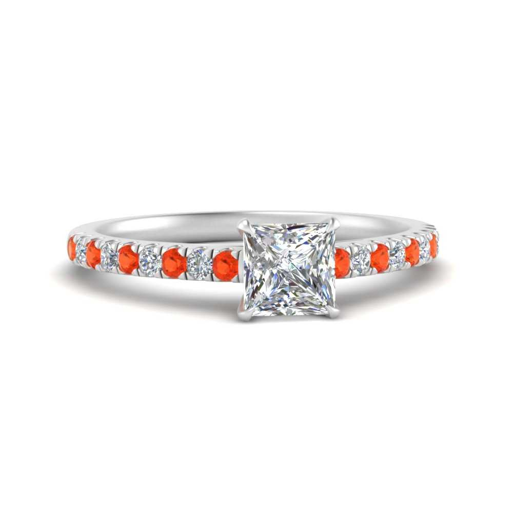 u-prong-thin-princess-cut-diamond-engagement-ring-with-orange-topaz-in-FD9154PRRGPOTO-NL-WG