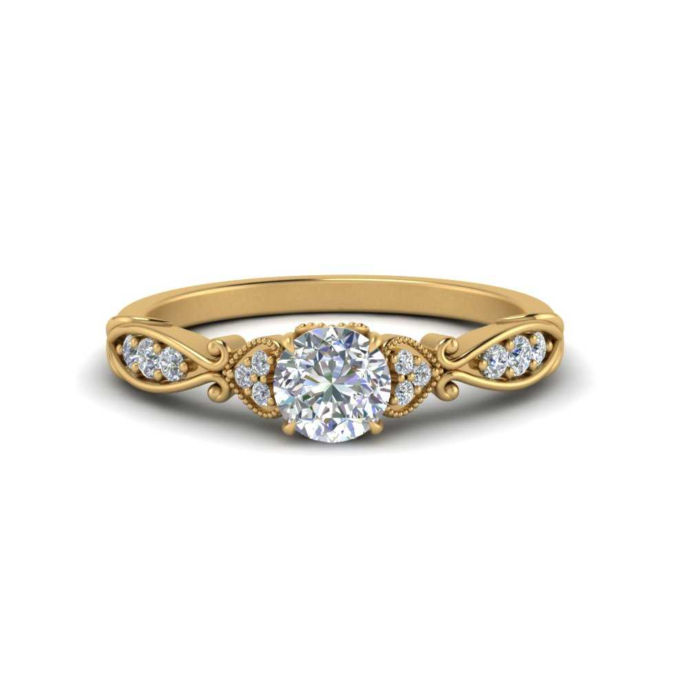victorian-delicate-round-moissanite-engagement-ring-in-FD123876ROR-NL-YG