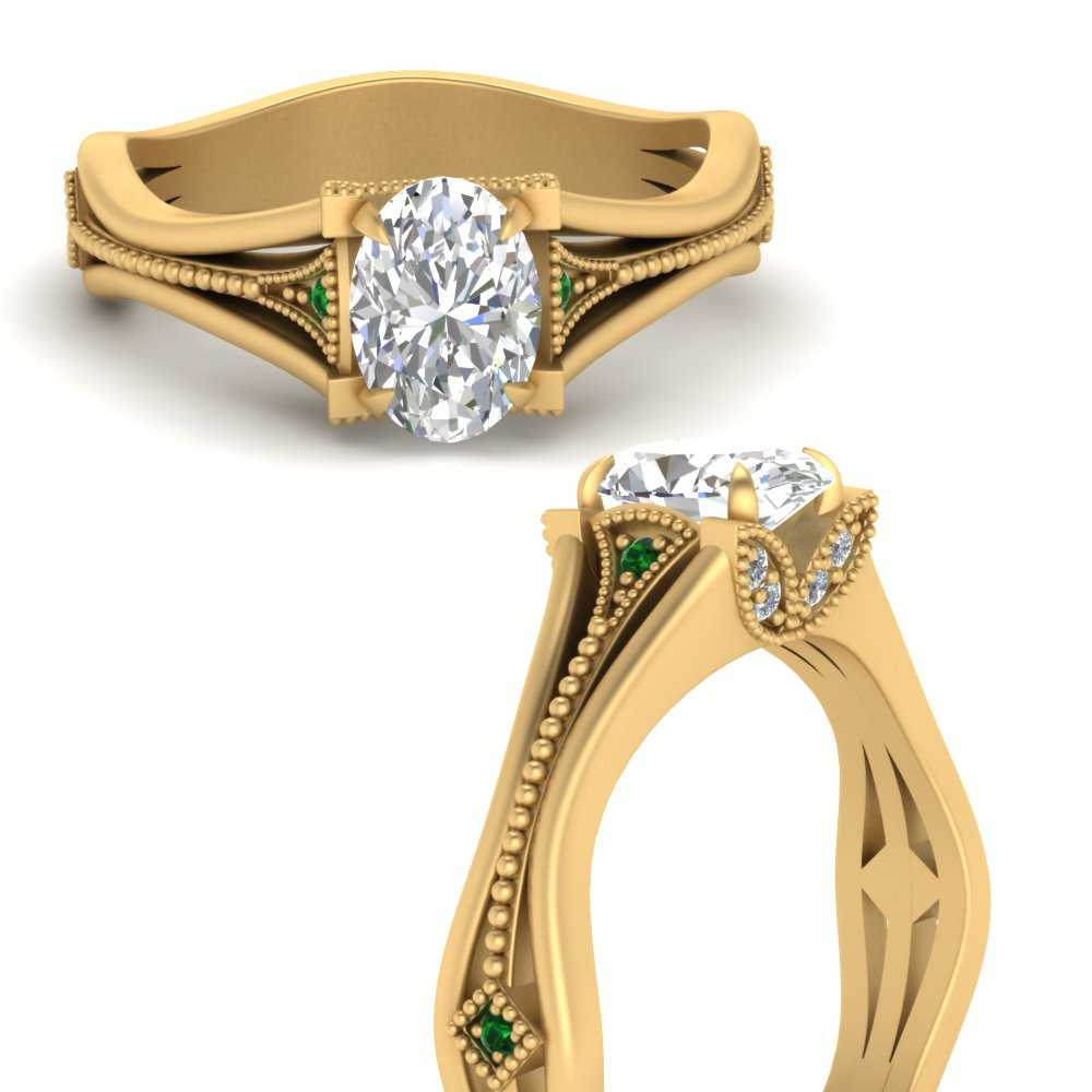 vintage-floral-oval-shaped-diamond-engagement-ring-with-emerald-in-FD9475OVRGEMGRANGLE3-NL-YG