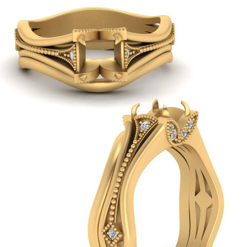 vintage-floral-semi-mount-beautiful-diamond-wedding-ring-set-in-FD9475SMANGLE3-NL-YG