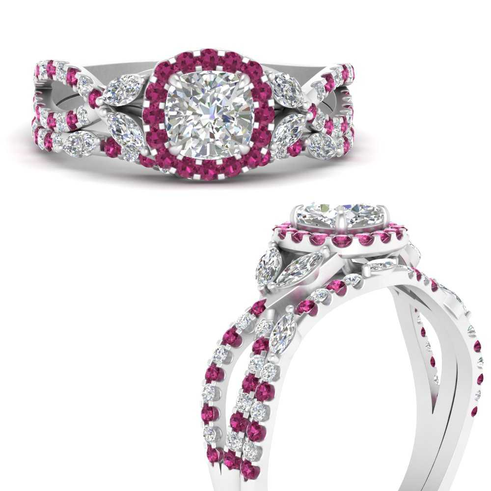 willow-wine-halo-cushion-cut-bridal-ring-set-with-pink-sapphire-in-FDENS3303CUGSADRPIANGLE3-NL-WG