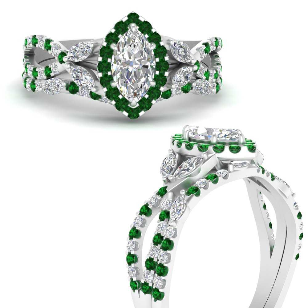 willow-wine-halo-marquise-cut-bridal-ring-set-with-emerald-in-FDENS3303MQGEMGRANGLE3-NL-WG